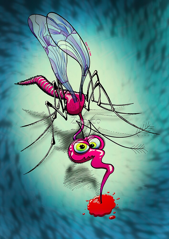 Mosquito Sucking Blood by Zoo-co