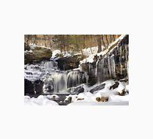 Icicles Decorate The R. B. Ricketts Waterfall Unisex T-Shirt