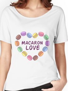 Macaroon pattern Women's Relaxed Fit T-Shirt
