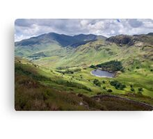 Little Langdale from Side Pike Canvas Print