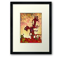 Undersea eyeball men afloat in the current. Framed Print
