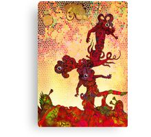 Undersea eyeball men afloat in the current. Canvas Print