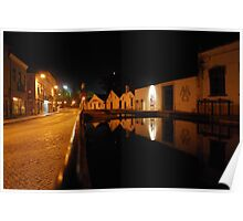Water reflections of Lagares Del Rey in Tomar Poster