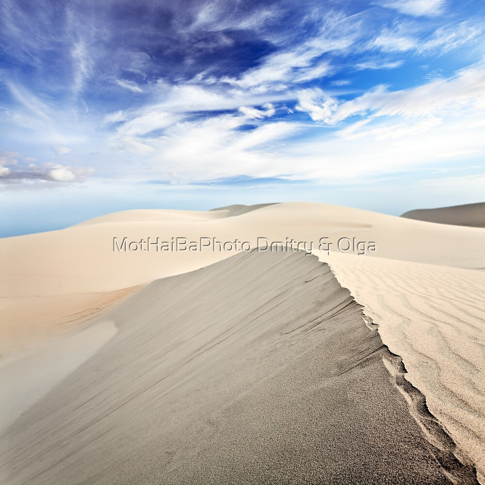 Beautiful sandy desert at day time by MotHaiBaPhoto Dmitry & Olga
