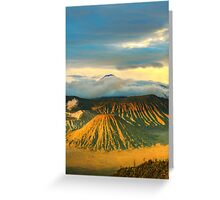Bromo Tengger Semeru national park. Java. Indonesia Greeting Card