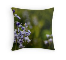 Bluebells, Oxborough Hall Throw Pillow