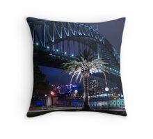 The Bridge, Illuminated Throw Pillow