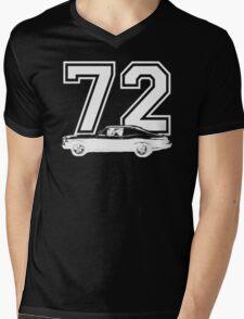1972 Chevy Nova Side View Year Royal Blue Graphic Custom T-Shirt