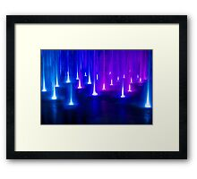 Multimedia Fountains in Plovdiv, BULGARIA Framed Print