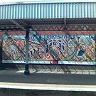 Rail station graffiti by Steven Mace