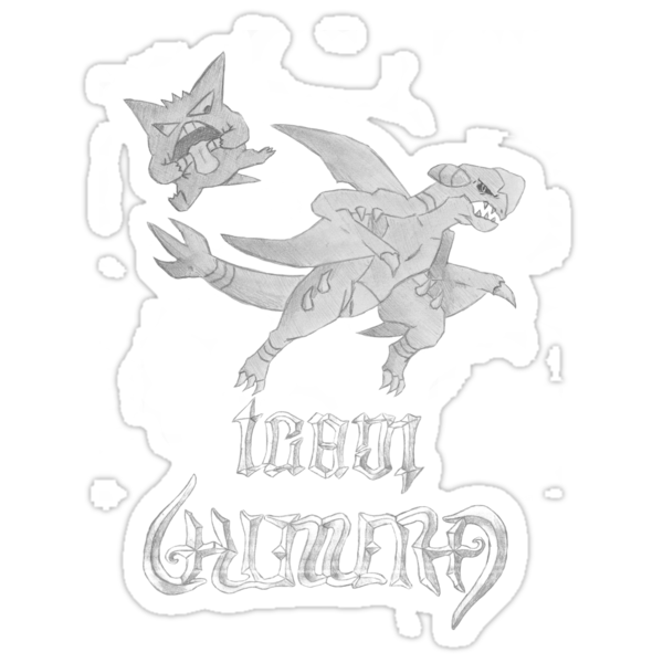 Team Chimera - Unknown's Gengar and Garchomp by eevilmurray
