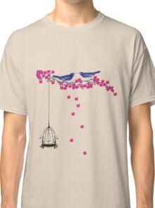 Cherry Blossom Bird Cage Classic T-Shirt