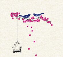 Cherry Blossom Bird Cage Hoodie