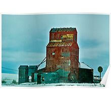 Grain Elevator, Hilger, Montana Poster