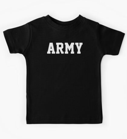 ARMY Physical Training US Military Crossfit Workout Gym PT Sleeveless T Shirt Kids Tee