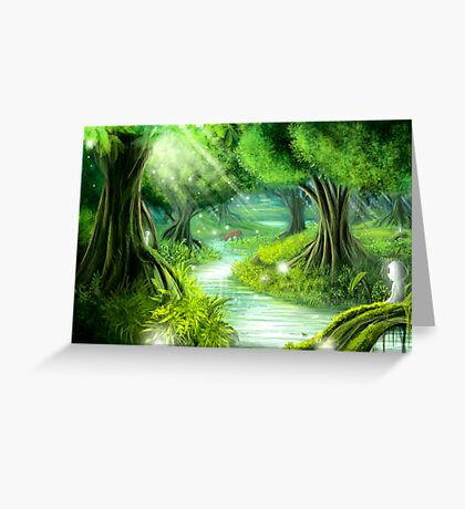 Forest spirits Greeting Card