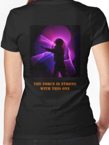 The Force is Strong with this one Women's Fitted V-Neck T-Shirt