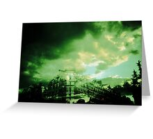 Green sky from paris Greeting Card