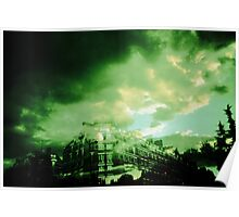 Green sky from paris Poster