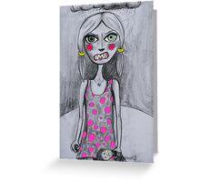 Feral Girl  Greeting Card