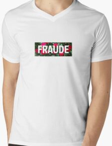 RED ROSES BOXLOGO - FS DESIGNS Mens V-Neck T-Shirt