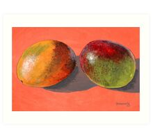 multi-colored mangoes Art Print