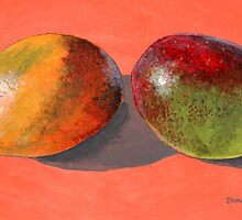 multi-colored mangoes by bernzweig