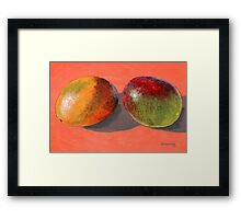 multi-colored mangoes Framed Print