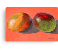 multi-colored mangoes Canvas Print