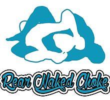 Rear Naked Choke Mixed Martial Arts Blue  by yin888