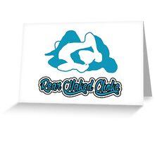 Rear Naked Choke Mixed Martial Arts Blue  Greeting Card