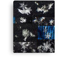 Macro Snowflakes Canvas Print