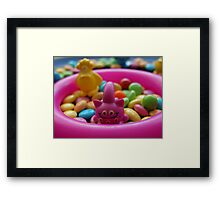 The monsters love sweets like me :) Framed Print