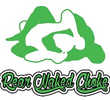 Rear Naked Choke Mixed Martial Arts Green 2 by yin888