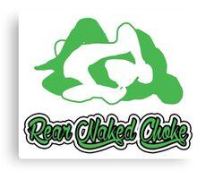 Rear Naked Choke Mixed Martial Arts Green 2 Canvas Print