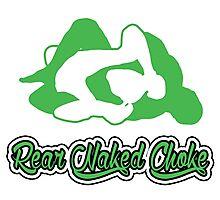 Rear Naked Choke Mixed Martial Arts Green 2 Photographic Print