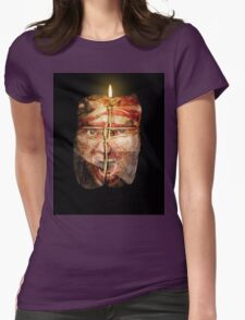 Man with baggage Womens Fitted T-Shirt