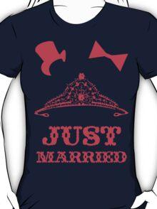 Just Married Princess Bride Top Hat Groom T-Shirt