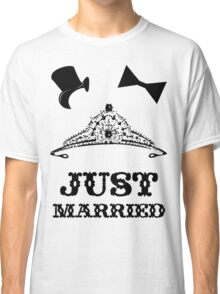 Just Married Princess Bride Top Hat Groom Classic T-Shirt