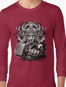 Thor Looking Dude with Hammer Long Sleeve T-Shirt