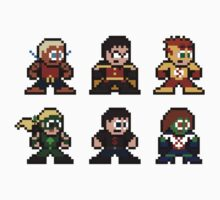 8-bit Young Justice Kids Clothes