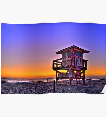 SInger Island life guard tower Poster