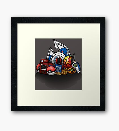 Anime Monsters Framed Print
