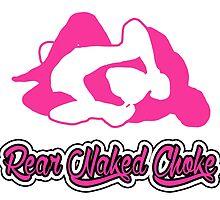 Rear Naked Choke Mixed Martial Arts Pink 2 by yin888