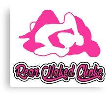 Rear Naked Choke Mixed Martial Arts Pink 2 Canvas Print