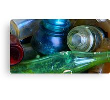 Colored Glass Bucket Canvas Print