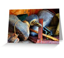 Fathers Duck Iron Greeting Card