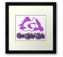 Rear Naked Choke Mixed Martial Arts Purple 2 Framed Print