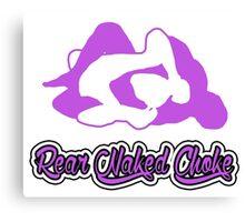 Rear Naked Choke Mixed Martial Arts Purple 2 Canvas Print