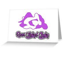 Rear Naked Choke Mixed Martial Arts Purple 2 Greeting Card